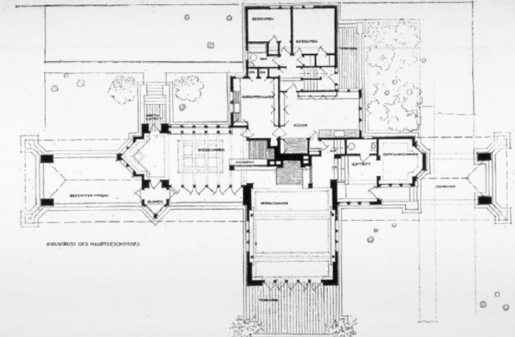 First Floor Plan Of The Ward Willits House Highland Park