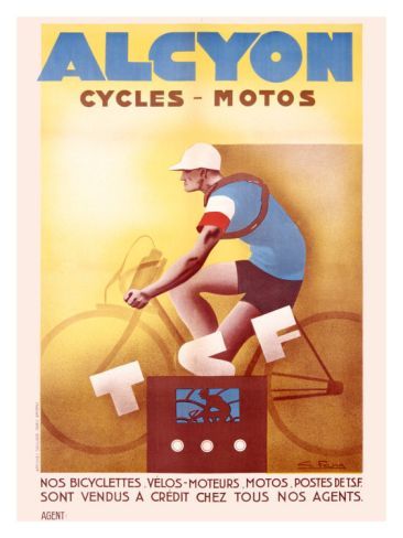 Alcyon Cycles-Motos Giclee Print by G. Favre at Art.co.uk
