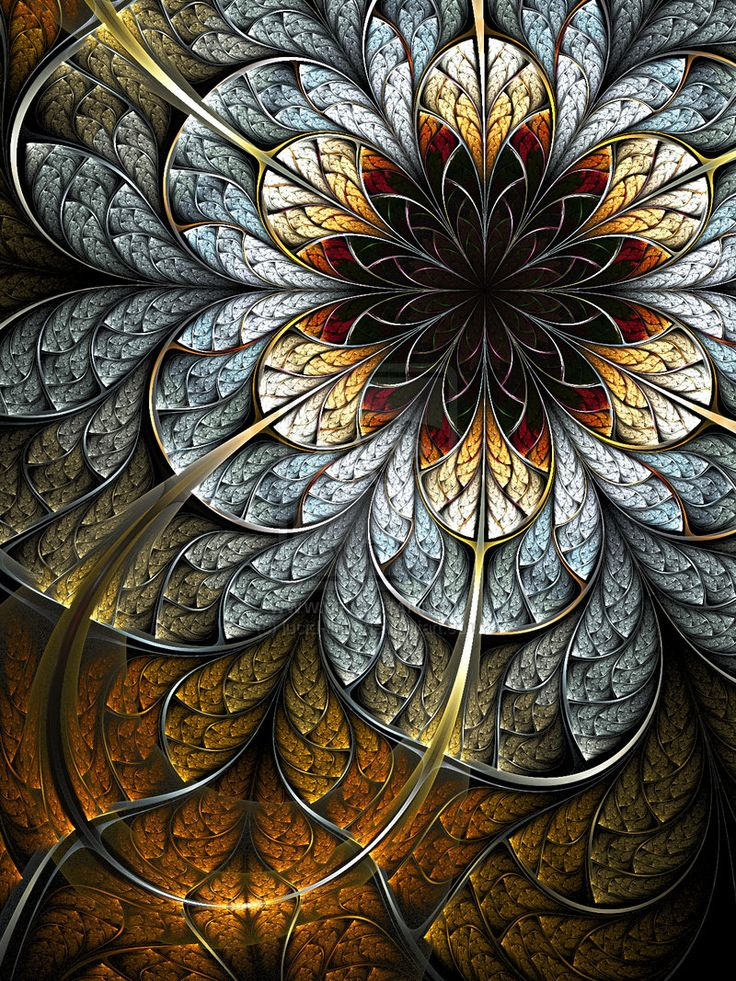 Fractal art - Wouldn't something like this be fabulous quilled?