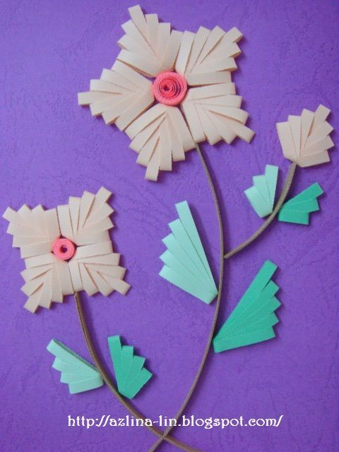 Lin Handmade Greetings Card: Quilling comb