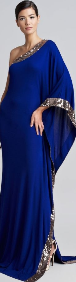 blue maxi dress @roressclothes closet ideas women fashion outfit clothing style Oscar de la Renta Spring 2013: