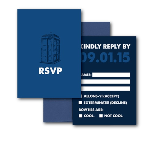 doctor who wedding invitation doctor who rsvp my wedding ideas