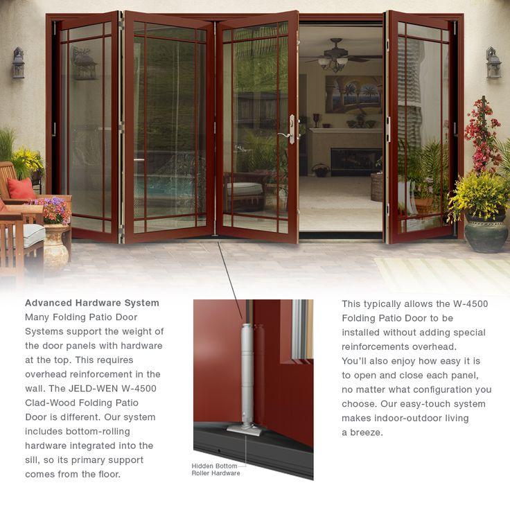 Jeld Wen W 4500 Series Left Hand Folding Wood Patio Door