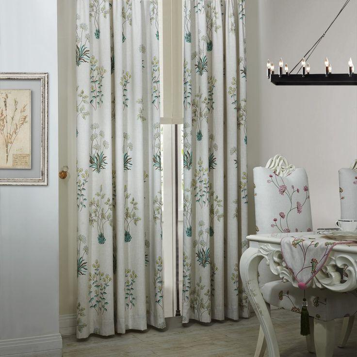 Country Botanical Grass Print Eco friendly Curtain  #floral #curtains #homedecor #interiordesign