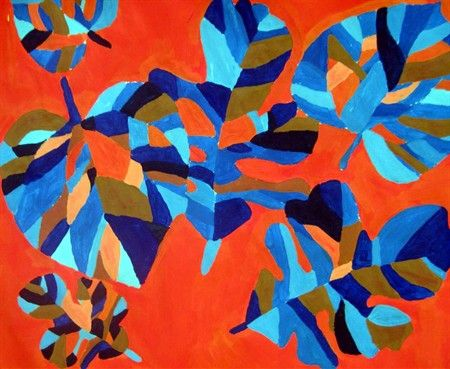 Complementary leaf painting