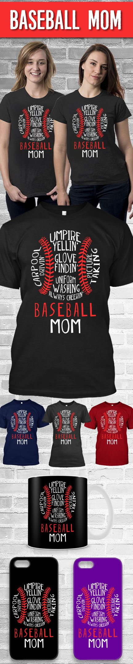 Baseball Mom Shirt! Click The Image To Buy It Now or Tag Someone You Want To Buy This For.  #baseball