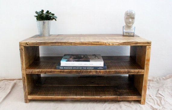 SHARMA  Reclaimed Wood TV Stand  Handmade & by OldManAndMagpie