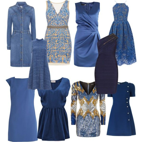 Soft Autumn Blues by carlie-ann on Polyvore featuring Balmain, American Vintage, Versace, STELLA McCARTNEY, Love Moschino, Nicole Miller, Hervé Léger, Gucci and Warehouse