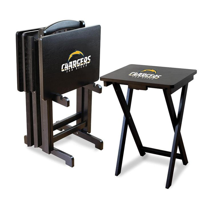 San Diego Chargers NFL TV Tray Set with Rack