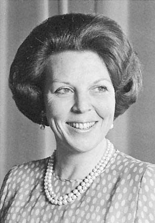 Beatrix of the Netherlands (Born 1938). Daughter of Queen Juliana and Prince Bernhard. She succeeded her mother as Queen.