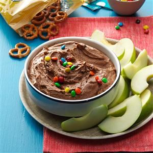 Brownie Batter Dip Recipe from Taste of Home -- shared by Mel Gunnell of Boise, Idaho