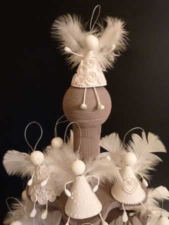 Feathers. Angels and more angels! Christmas angels ornaments feathers crafts DIY