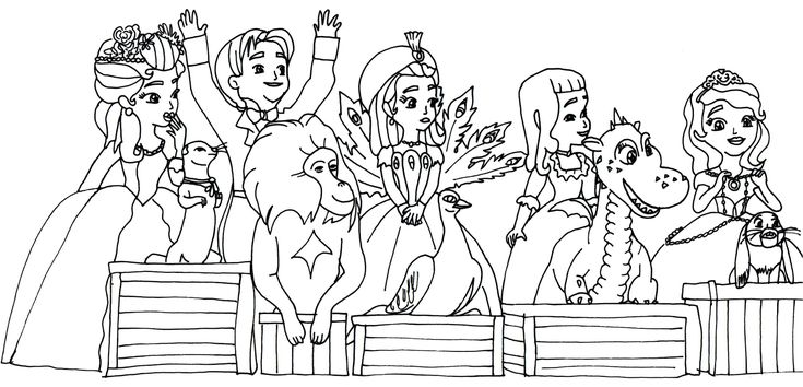Sofia The First Coloring Pages: Sofia