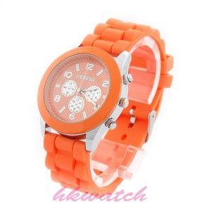 Zegarek damski meski GENEVA żelowy jelly Pomarańczowy.
