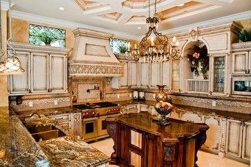 Old world villa mediterranean kitchen