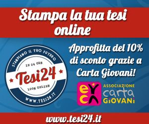 Stampa la tua tesi on line con lo sconto!     http://cartagiovani.it/content/tesi24-st     ampa-la-tua-tesi-line-con-lo-sconto