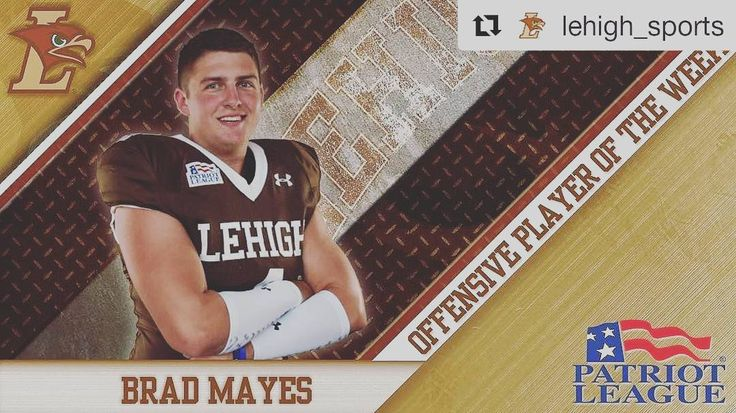 #Repost @lehigh_sports (@get_repost)  #Rivalry153 MVP -  Leading Lehigh into playoffs - Patriot League Offensive Player of the Week. Congrats to Lehigh Footballs Brad Mayes!
