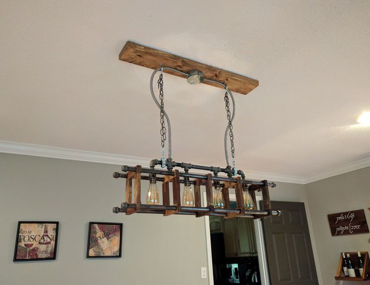 85 best diy decor images on pinterest wood projects woodworking industrial chandelier diy projects aloadofball Image collections
