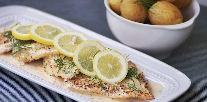 Gös Ängsö Special- A yummy sautéed fish with creamy lemon dill sauce.