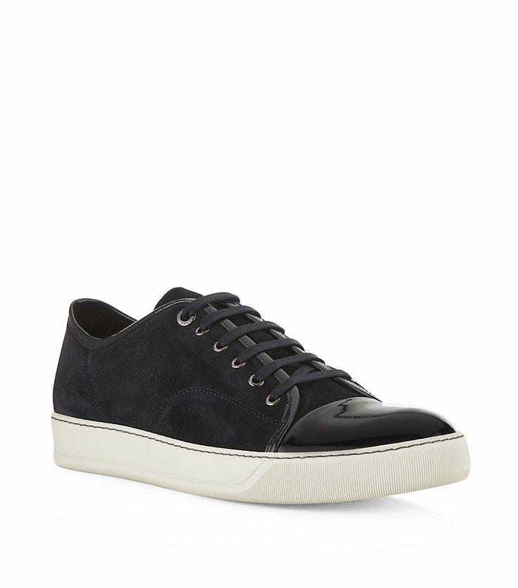 #Lanvin - Patent Toe Cap Suede Sneaker