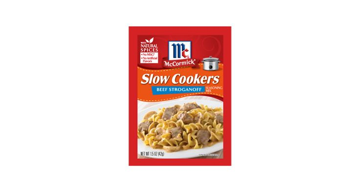 This elegant, comfort-food classic is now easy to prepare with McCormick® Slow Cookers Beef Stroganoff Seasoning.