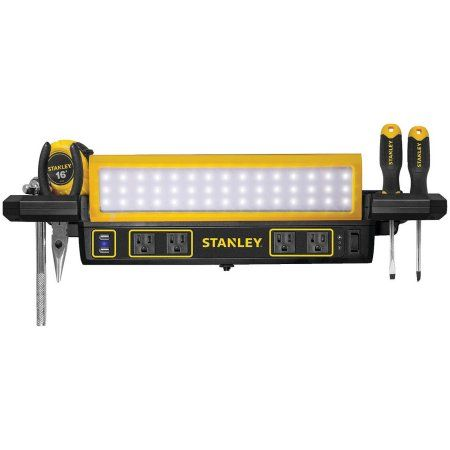 Stanley Psl1000s 1 000 Lumen Workbench Shop Light With Power
