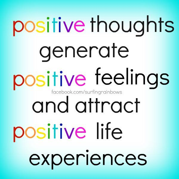 Positive thoughts....:)