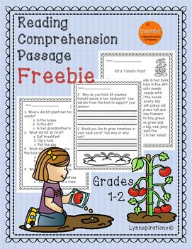 This free reading comprehension passage for grades 1-2 can be used in your class to help your students with reading comprehension skills and test taking skills.  If you enjoy this passage please see link below to purchase other reading comprehension products.