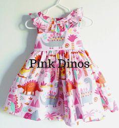 Girl dinosaur dress,girly dinosaur dress,girly dinosaur birthday dress,first birthday dress,girly dino dress,jurassic party dress,birthday by MightyTotsDressShop on Etsy