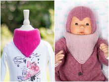 Basic Dreieckstuch stricken für Baby und Kleinkind- Anleitung für Anfänger
