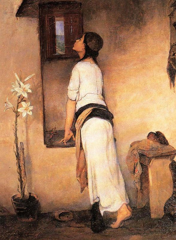 Nikiforos Lytras, The waiting, 1832-1904