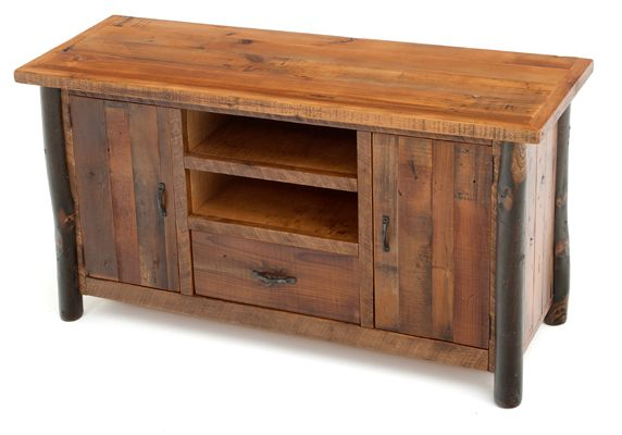 Rustic hickory entertainment center log furniture rustic woodland creek furniture hickory Wooden entertainment center furniture