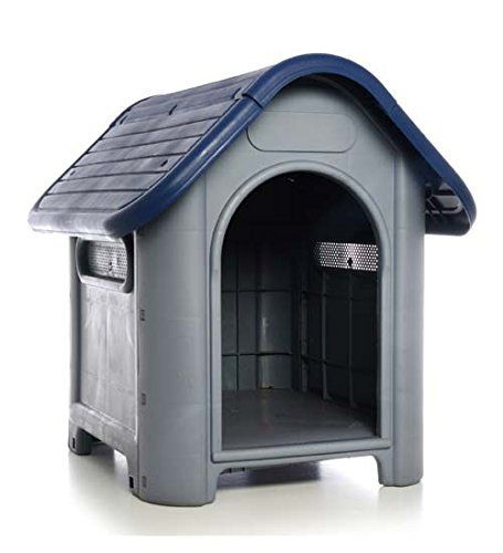 awesome Plastic Dog House-Blue 29.13x22.44x25.98 In by DollarItemDirect
