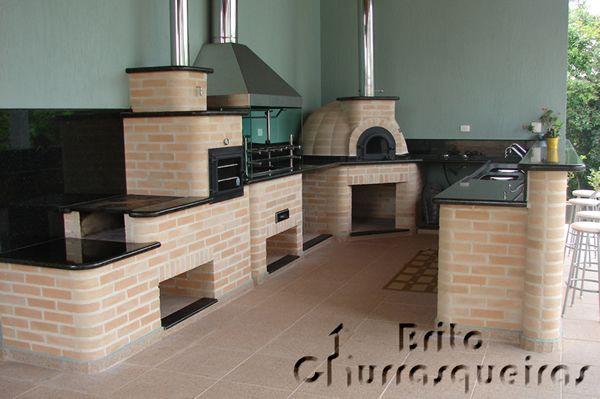 area de churrasco com fogão a lenha - Pesquisa Google