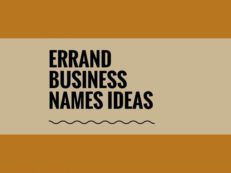 While your business may be extremely professional and important, choosing a creative company name can attract more attention.A Creative name is the most important thing of marketing. Check here creative, best Errand Business names ideas for your inspiration.