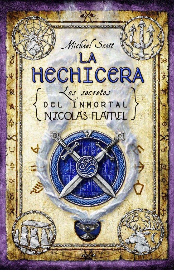 """[datosLibro]  La saga de seis libros que creó Michael Scott nos trae su tercera entrega: """"La hechicera: Los secretos del inmortal Nicolás Flamel"""". Hasta ..."""