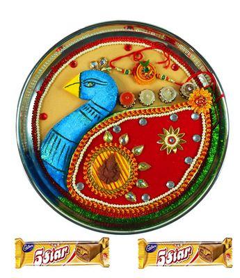 Rakhi Thali Peacock online