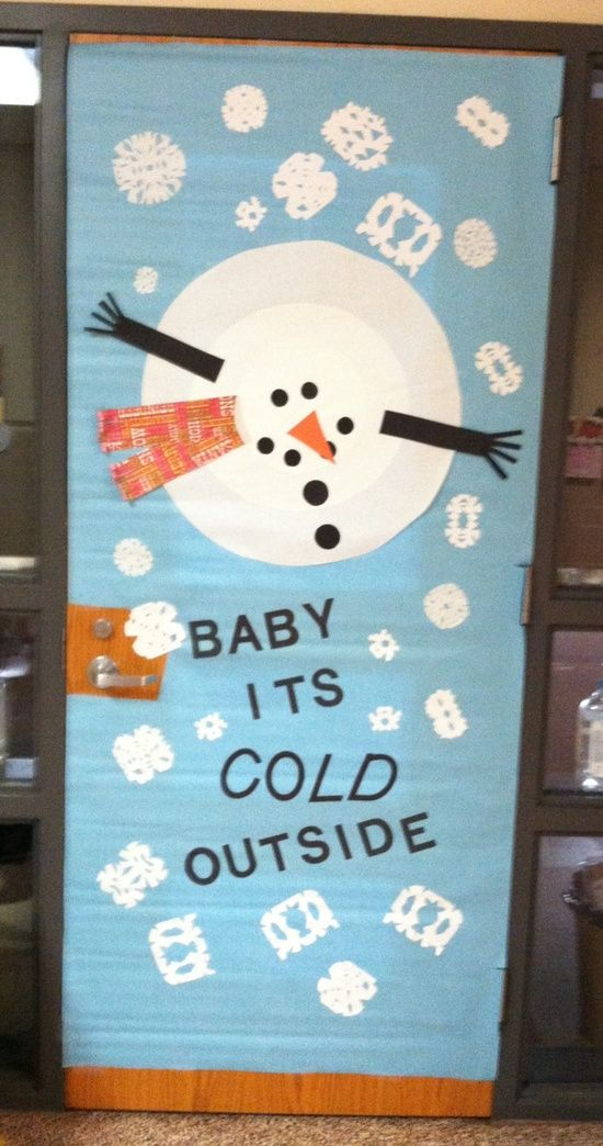 Baby It's Cold Outside Snowman Door Decoration