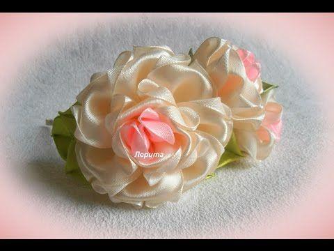 Бант,фантазийный цветок МК DIY. Bow, flower fantasy - YouTube