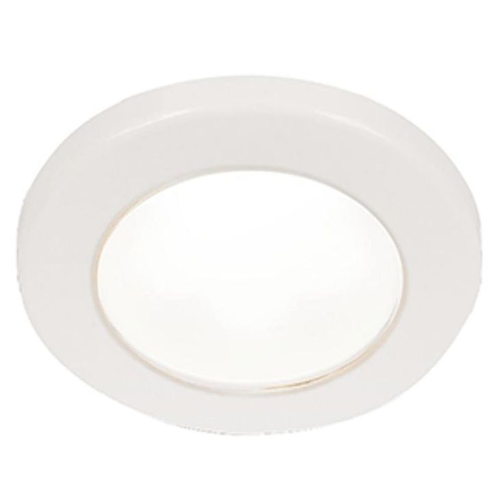 Hella Marine EuroLED 75 3 Round Screw Mount Down Light - White LED - White Plastic Rim -. EuroLED 75 3 Round Screw Mount Down Light - White LED - White Plastic Rim - 24VStylish, reliable and energy efficient, these lamps will provide excellent illumination to enhance interior and exterior spaces.The EuroLED 75 uses a highly efficient optical system that produces a very wide and even illumination that is specifically designed to reduce individual light source glare, which can lead to…