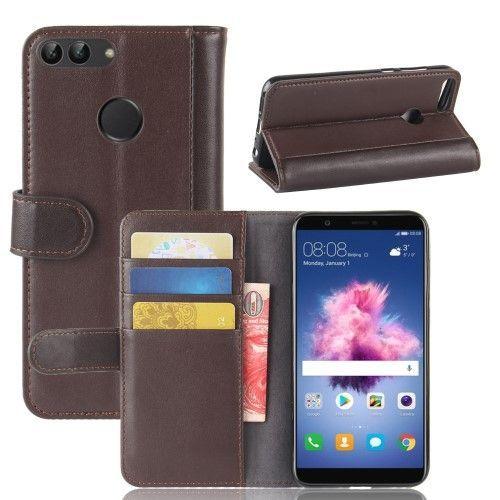 Housse Huawei P Smart Cuir Premium Marron Portefeuille Cuir Cuir Et Portefeuille