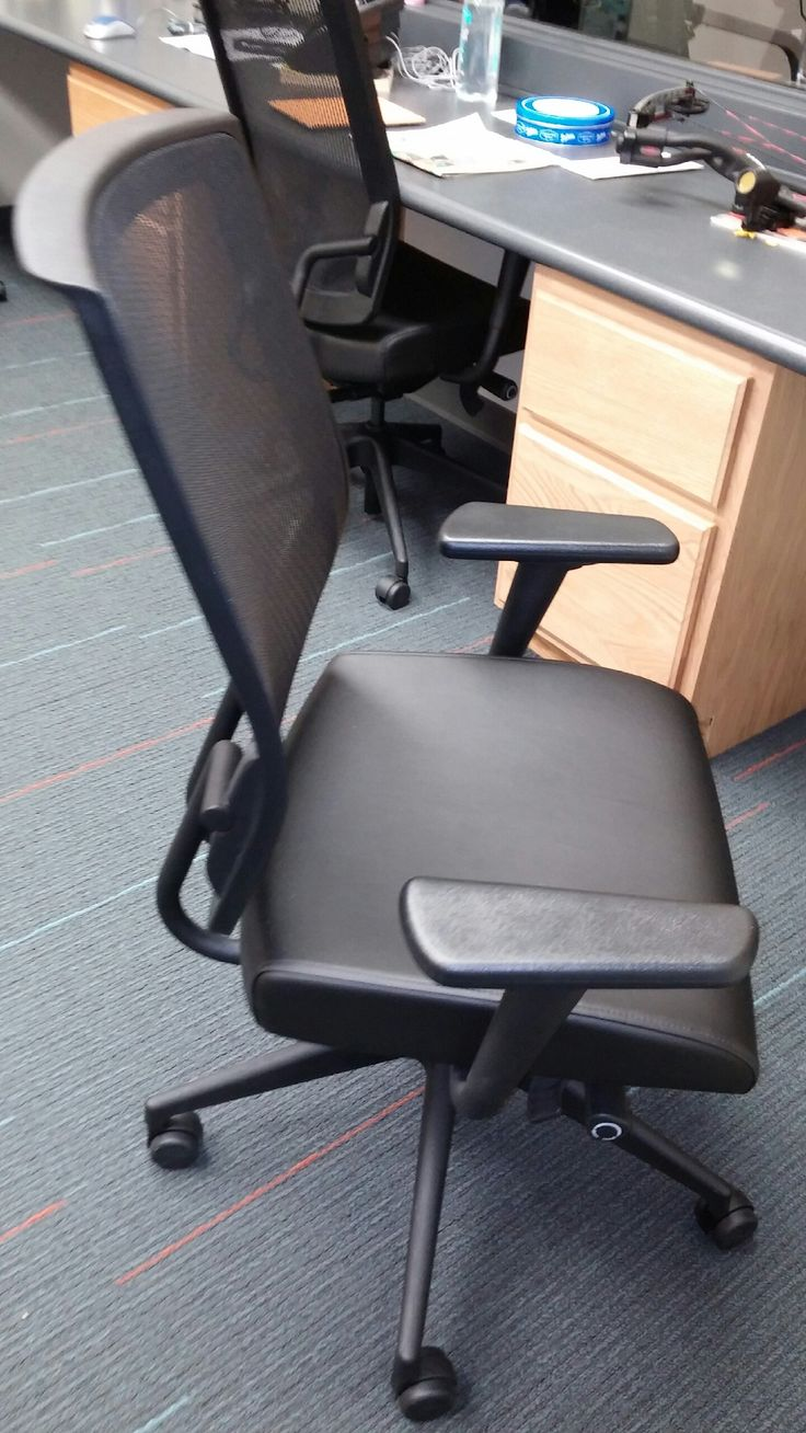 Sit On It Black Mesh Back Task Chair For A Rehab Office