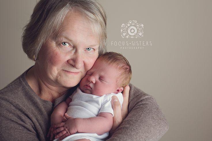 Grandma and Baby  Newborn Photography | Calgary, Alberta | Focus Sisters Photography