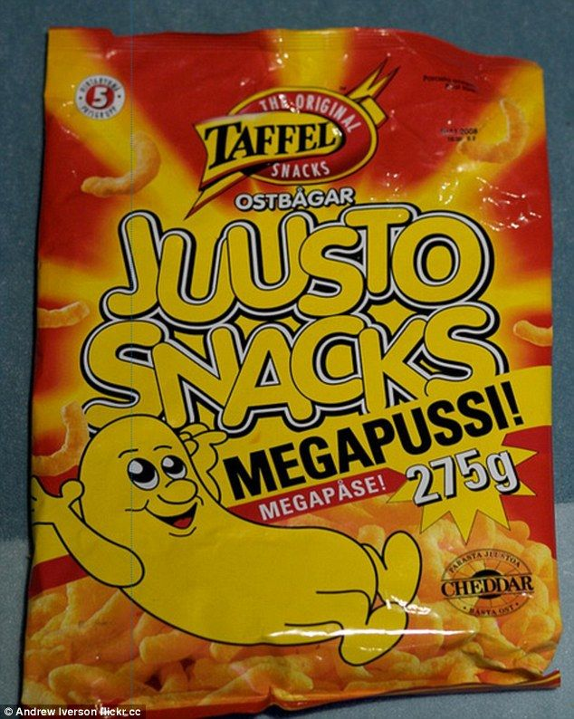 Finland's Megapussi Juusto Snacks are similar in smell and taste to Wotsits ...