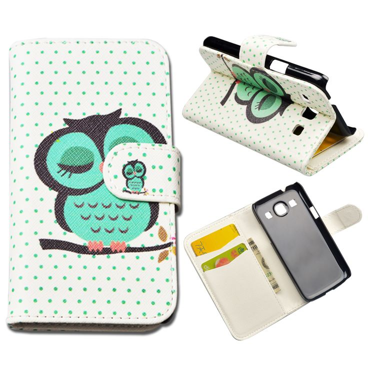 10 Patterns Case G350e Flip PU Leather cover for Samsung Galaxy Star Advance G350e Phone Case for Galaxy Star 2 Plus
