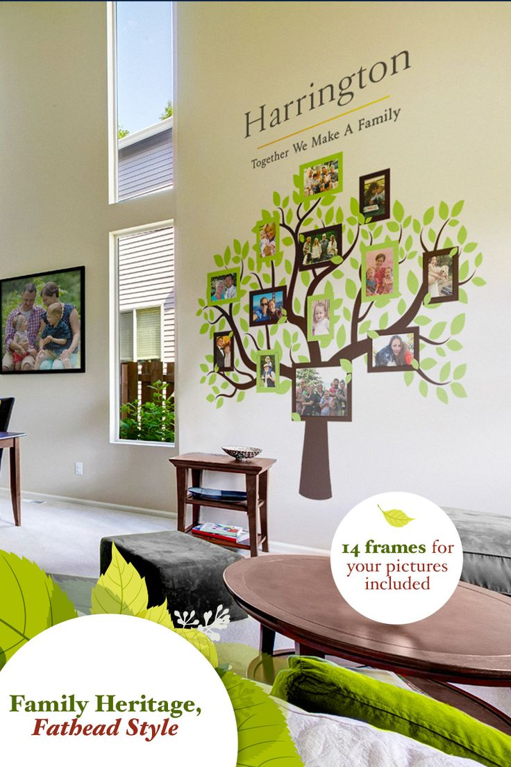 Discover these creative, artsy family tree wall decals as a way to create a  gorgeous