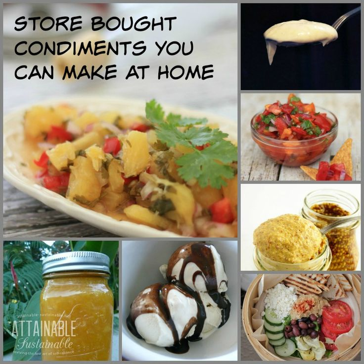 Replace your store bought habits with homemade! These recipes  are easy and will change the way you look at toppings and condiments. Less packaging, fewer wonky ingredients.