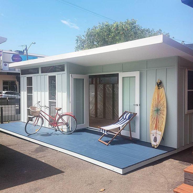 Meet the Mod 23! Only at Melwood. www.melwood.com.au  #melwoodcabanas #modcabana  #mod23 #moderncabana #beachlyf #beachlife #beachvibes #summervibes #sydney #sydneysummer #drummoyne #summerinaustralia #pool #poolcabana #duluxweathershield #dulux #deckchair #surfboard #coastal