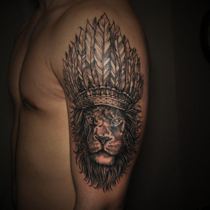 Bright Ink Studio Lion tattoo by Michael Chernov