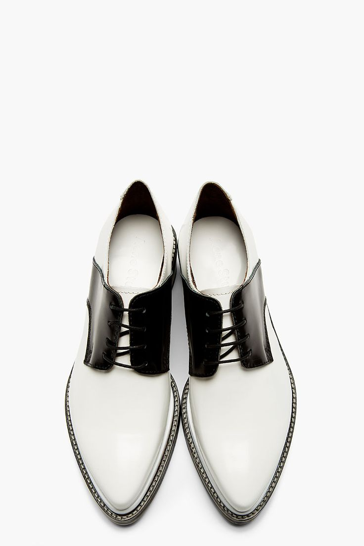 ACNE STUDIOS Black & White Lark Mix Saddle Shoes